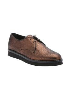 Tod's bronze metallic suede lace-up oxfords