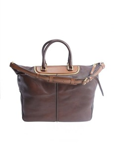 Tod's brown leather convertable bag