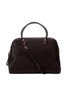 Tod's brown leather convertible top handle bag