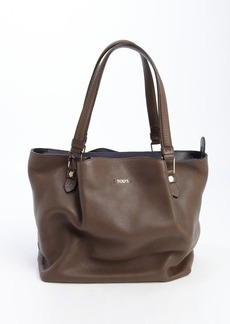 Tod's brown leather medium 'Flower' bag