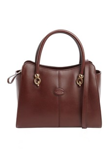 Tod's brown leather small top handle tote