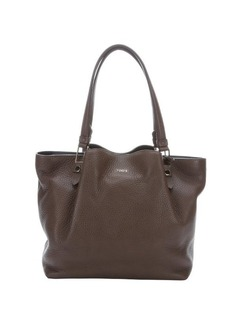 Tod's brown leather top handle shopper tote