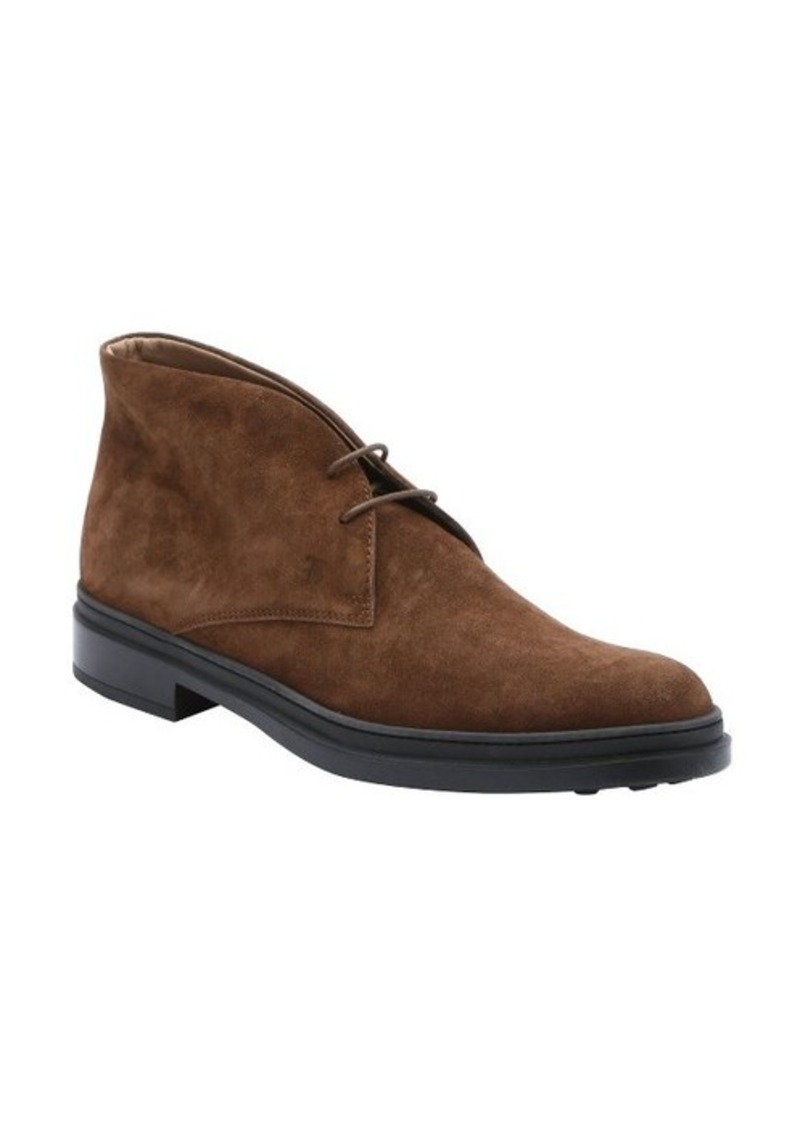tod s tod s brown suede lace up chukka boots shoes