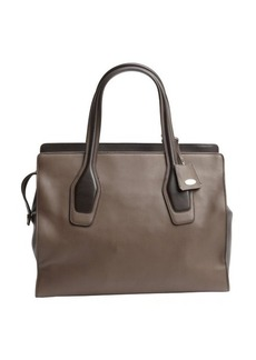 Tod's brown tonal leather tote bag