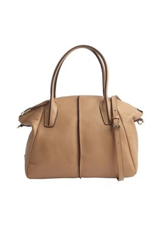 Tod's camel leather 'D. D.' medium bowler bag
