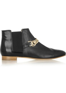 Tod's Chain-trimmed leather Chelsea boots