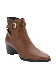 Tod's cocoa leather buckled ankle boots