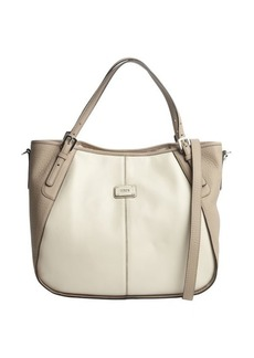 Tod's cream leather logo stamp convertible shoulder bag