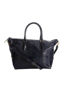 Tod's dark blue leather medium convertible tote bag