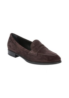 Tod's dark brown leather penny loafers