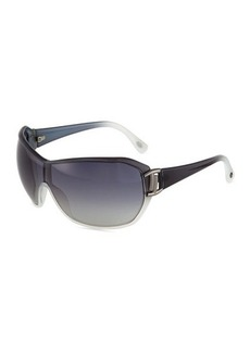 Tod's Dark Gray Ombre Injected Shield Sunglasses  Dark Gray Ombre Injected Shield Sunglasses