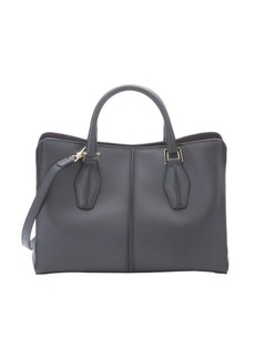 Tod's dark grey leather multi-compartment convertible tote