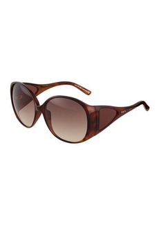 Tod's Dark Havana Injected Butterfly Sunglasses