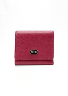 Tod's dark red and royal blue leather tri-fold wallet