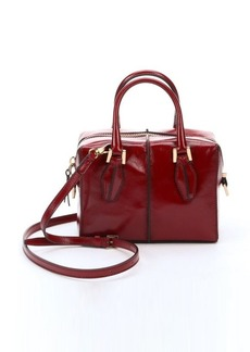 Tod's dark red leather mini convertible bag