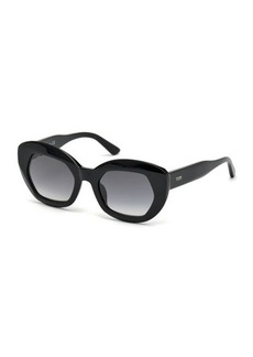Tod's Faceted Oversized Plastic Sunglasses