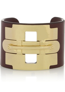 Tod's Gold-tone and leather cuff