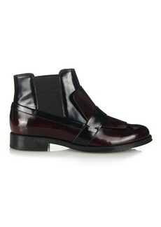 Tod's Gomma brushed-leather chelsea boots