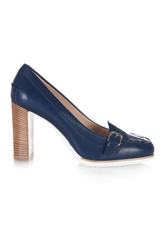 Tod's Gomma round-toe leather pumps