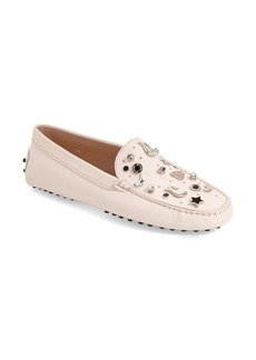 Tod's 'Gommini - Guitar' Embellished Driving Loafer (Women)