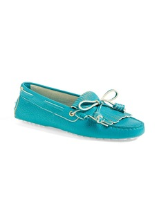 Tod's 'Gommini' Fringed Leather Driving Moccasin (Women)