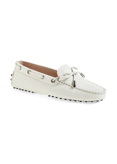 Tod's 'Gommini' Tie Front Leather Driving Moccasin (Women)