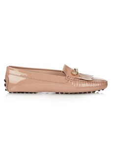 Tod's Gommino fringed patent-leather loafers