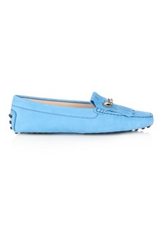 Tod's Gommino fringed suede loafers