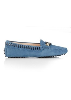 Tod's Gommino woven-edge nubuck loafers