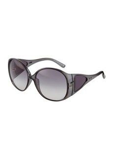 Tod's Gray Injected Round Sunglasses  Gray Injected Round Sunglasses
