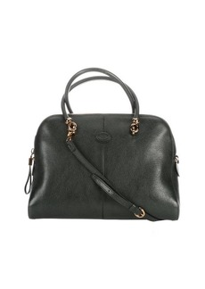 Tod's green leather convertible top handle bag