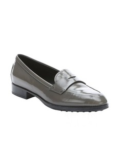 Tod's grey leather penny loafers