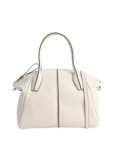 Tod's ivory leather 'D. D.' medium bowler bag