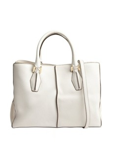Tod's ivory leather small convertible shoulder bag