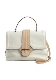 Tod's ivory leather top handle convertible tote