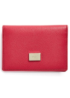 Tod's Leather Bifold Credit Card Case