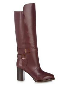 Tod's Leather block-heel boots