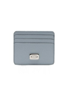 Tod's light blue leather card holder