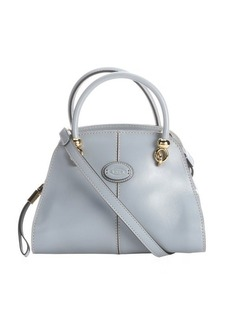 Tod's light blue leather convertible mini satchel