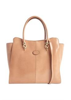 Tod's light brown leather convertible shoulder bag