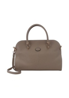Tod's light cappuccino leather convertible top handle bag