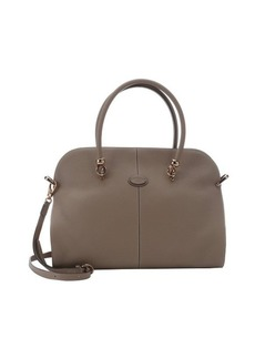 Tod's light cappuccino leather top handle convertible bag
