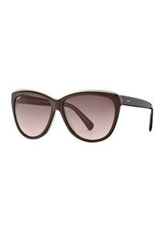 Tod's Metal-Trim Cat-Eye Plastic Sunglasses