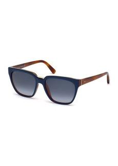 Tod's Metal-Trim Square Plastic Sunglasses