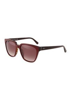 Tod's Metal-Trim Square Plastic Tortoiseshell Sunglasses