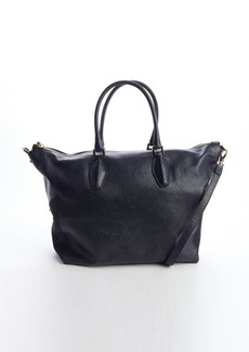 Tod's midnight leather top handle tote
