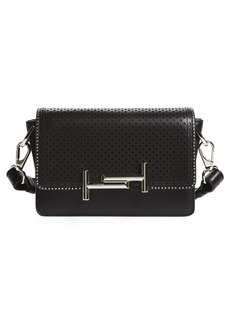 Tod's 'Mini Double T' Perforated Leather Crossbody Bag