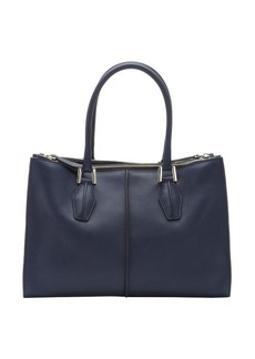 Tod's navy blue leather 'D-Cube' structured tote bag