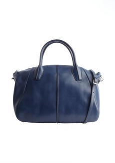 Tod's navy leather convertible top handle bag