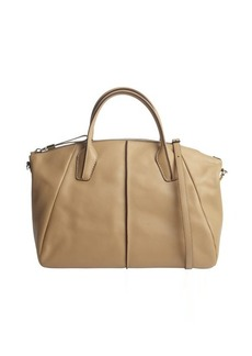 Tod's nude leather convertible top handle bag